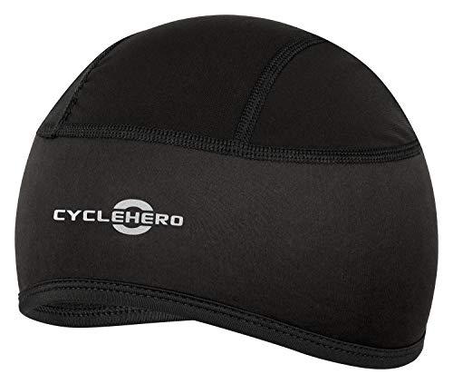 CYCLEHERO Fahrradmütze gepolstert (Größe:L-XXL) Unterziehmütze für Herren, Damen und Kinder mit EU Passform