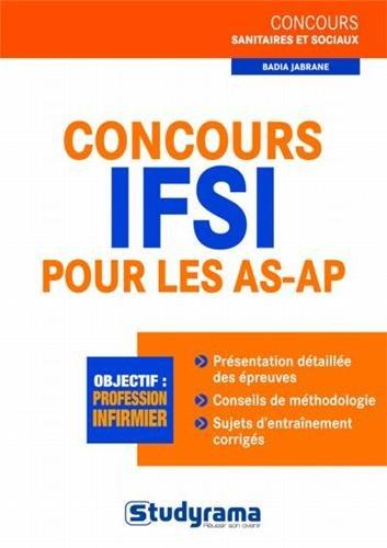 Concours IFSI pour les AS-AP