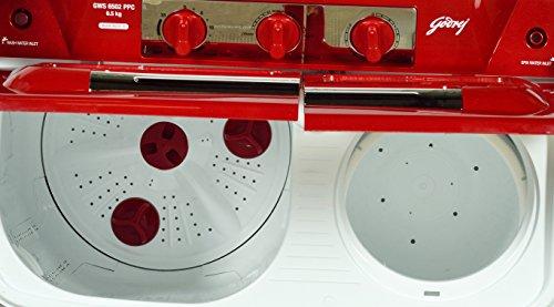Godrej GWS 6502 PPC Semi-Automatic Top-loading Washing Machine (6.5 Kg, Red)