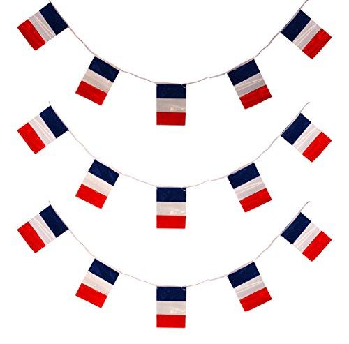 I love Fancy Dress 3X ilfd219130m Frankreich Flagge Wimpelkette (Französische Flagge Kleid)