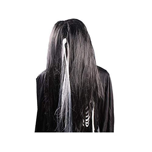 HONGSHENG Halloween-Geist-Haar - Schwarze und Weiße Perücke, Maskerade Dekor, Weibliche Geisterhaar, Festliche Atmosphäre, Unisex,Blackandwhite