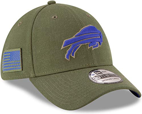 New Era NFL Buffalo Bills Salute to Service 2018 Sideline 39THIRTY Stretch Fit Game Cap, Größe :S/M