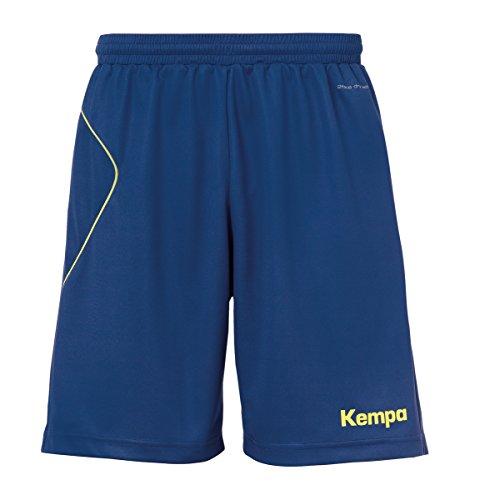 Kempa Herren Curve Shorts Hose, Deep Blau/Fluo Gelb, 140