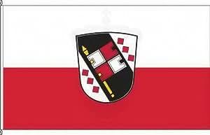 Königsbanner Hissflagge Schwarzach aMain - 80 x 120cm - Flagge und Fahne