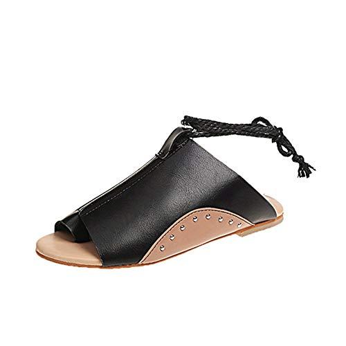 SHENGNONG Frauen Bequeme Sommer Schnürschuhe Sandalen Big Toe Korrektur Flache Schuhe