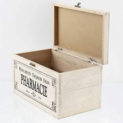 412WIqbLsrL - SIDCO Medicinal Buzón Madera Botiquín Primeros Auxilios Box Clayre & Eef Casa Decorativa Almacenamiento