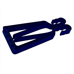 KlipSki Ski- und Stockträger, schnelle und einfache Anwendung, für Experten und Anfänger, Blau, 1 Paar