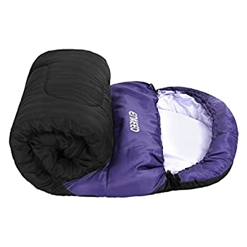 Enkeeo 3–4Season Mummy Sleeping Bag With Bag Of Built-in Compressionhoodpocket, Impearmeabile & Breathable, Lightweight & Compact For Travel Camping Travel, Men's, Purple 5