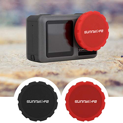 htfrgeds 2 Pack for DJI Osmo Action Camera Objektivdeckel Leine Lens Cap Keeper Halter verhindern Objektivdeckel verloren Kamera Kamera und mehr Lens Cap Objektiv-Schutzdeckel (Kamera-objektiv-keeper)