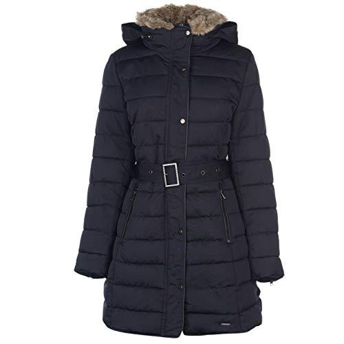 Firetrap Damen Longline Luxe Bubble Jacke Marinefarbe XS