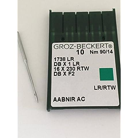 Groz beckert 16x 231leather, dbx1lr misura 90/14Aghi per macchina da