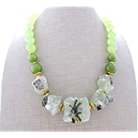 d303ff73c4ca Collar de prehnite verde y jade natural