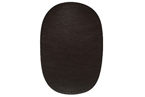 alles-meine.de GmbH ovaler Flicken - dunkel braun Leder 10 cm * 15 cm Aufnäher zum Aufnähen...