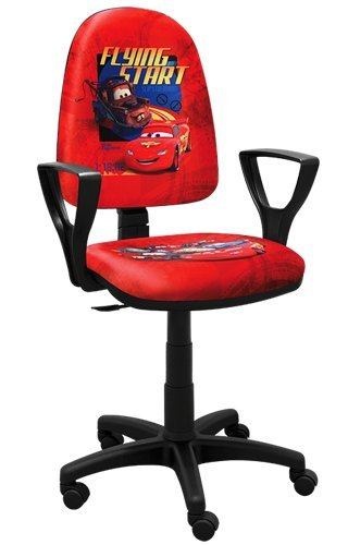 Best For Kids Kinderschreibtischstuhl Jugend-Bürostuhl Kinder-Drehstuhl Formel1 F1 Motor Princess Girl Lady Football (BRED-CAR-1)