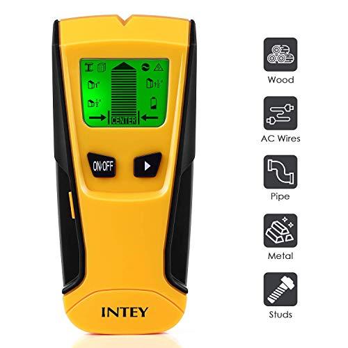 INTEY Ortungsgerät Leitungssucher Wand Detektor 3 in 1 Eletronischer Multifunktioneller Wand Scanner Leitungssucher mit LCD-Bildschirm Digitales Leitungssuchgerät Detektor Leitung