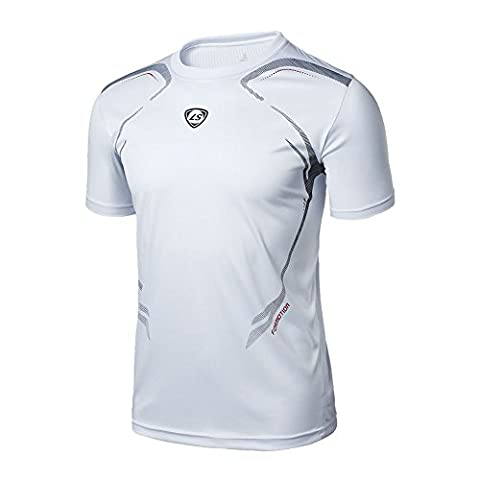BOBORA Men's Gym Sport Running T Shirt Fitness Muscle Quick Dry Stretch Top Tee Shirt