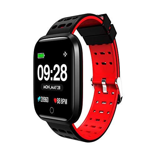 Watch Uhr Männer Und Frauen Intelligente 1,3-Zoll-Farbbildschirm Armband Herzfrequenz Blutdruck Überwachung Sport Informationen Anruf Erinnerung Uhr - Rot 363 Gps