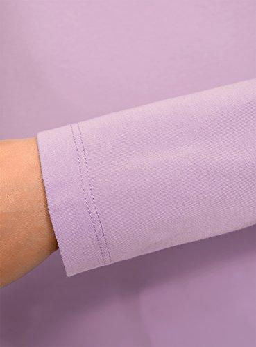 oodji Collection Damen Langarmshirt Violett (8000N)