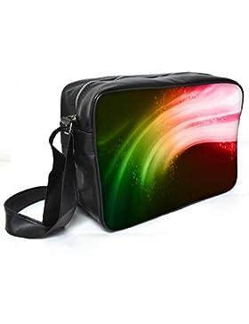 Snoogg Multicolor Streifen Leder Unisex Messenger Bag für College Schule täglichen Gebrauch Tasche Material PU
