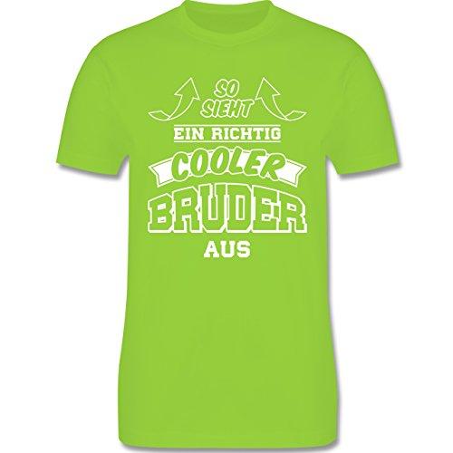 Shirtracer Bruder & Onkel - So Sieht ein Richtig Cooler Bruder Aus - Herren T-Shirt Rundhals Hellgrün