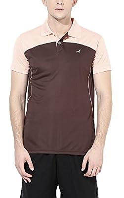 American Crew Men's Sports T-Shirt (Peach & Brown)