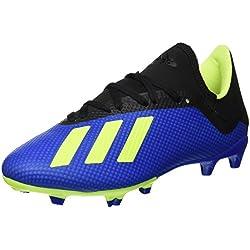 adidas X 18.3 Fg, Scarpe da Calcio Uomo, Blu Fooblu/Syello/Cblack), 41 1/3 EU