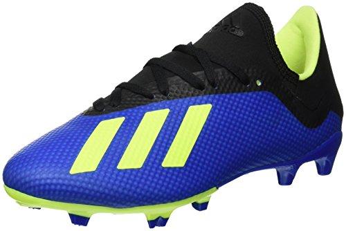 adidas X 18.3 FG, Zapatillas de Fútbol para Hombre, Azul (Football Blue/Solar Yellow/Core Black), 44 EU