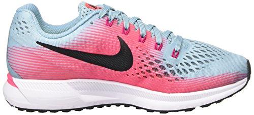 Nike Ladies Air Zoom Pegasus 34 Scarpe Da Corsa Multicolore (bleu Mica / Blanc / Rose Coureur / Fucsia Sport)