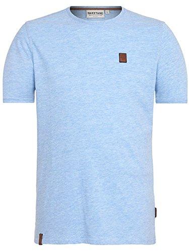 Naketano Male T-Shirt Italienischer Hengst VI amazing blue melange