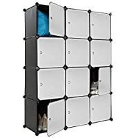 Dirty Pro Tools™ Black Plastic Wardrobe Cupboard Storage Shelf Box Cube Shelves Unit Clothes
