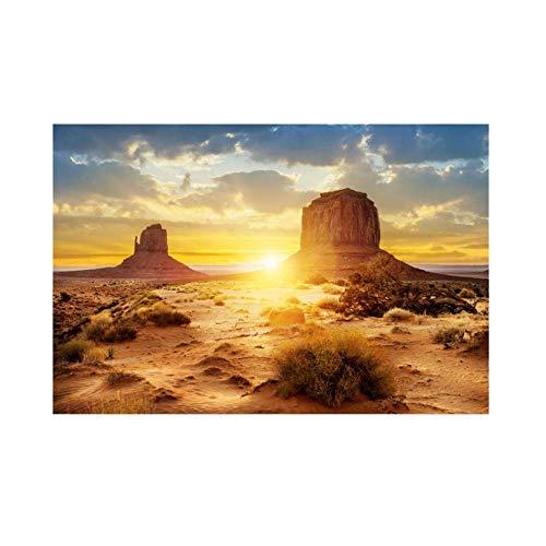 Wandisy Aquarium-Hintergrund-Plakat, Sun und Wüsten-Art-Aquarium-Hintergrund-Plakat PVC-klebendes Dekor-Papier (91 * 50cm)