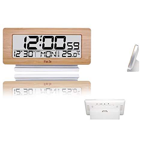 LICHUXIN Wetterstation Holz Uhr Produkt ist schwer 200g Sensor displaymoon Größen 16,6 * 3,9 * 8,6 mm-Display und Alarmzyklus Spiegeltakt Touch kann mit 3 Sensoren gleichen Zeit ausgestattet Werden