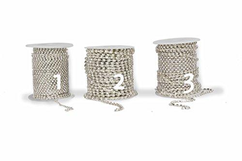 Modisches Strassband als Meterware in verschiedenen Größen zum Aussuchen. Für Armbänder, Colliers zur Dekoration oder als modisches Accessoire. Zum Basteln von Halsketten oder Modeschmuck (2 Stück pro cm)