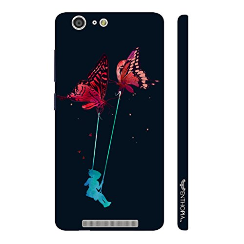 Enthopia Designer Hardshell Case ladder Fly Back Cover for Gionee Marathon M5  available at amazon for Rs.199