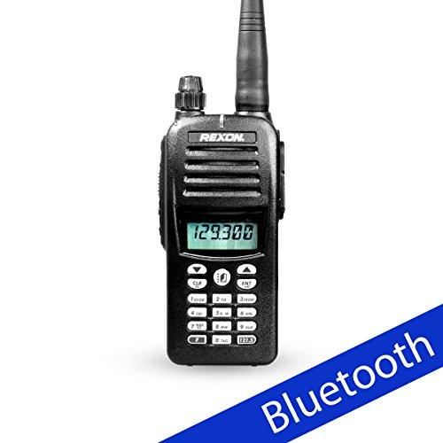 REXON RHP-530 Flugfunkgerät mit Bluetooth und VOR-Funktion - VHF Funkgerät für Pilot, Flieger und Luftsportgeräte (108 - 117,975 MHz)
