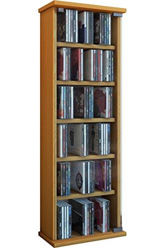 """VCM Regal DVD CD Rack Medienregal Medienschrank Aufbewahrung Holzregal Standregal Möbel Bluray Möbel Farbwahl """"Vetro"""""""