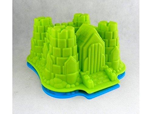 Silikon Backform Schloss Burg 22,5x19,5cm grün*NEU*OVP*
