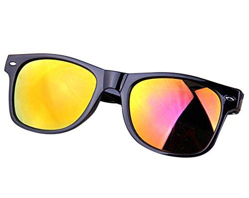 Wonque Sonnenbrille Anti-UV Sonnenbrille Reflektierende Sonnenbrille Unisex Sonnenbrille 1 Stück, rot, 4.8 * 5.5CM