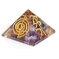 Reiki heilende Energie geladen Krystal Gifts UK Gravur Amethyst Kristall Chip Energetische Pyramide (ca. 2x 2... preisvergleich bei billige-tabletten.eu
