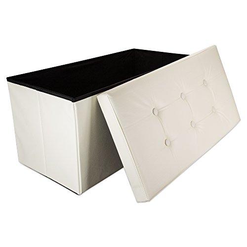 Intirilife – 78 x 38 x 38 cm Caja de Almacenaje Banco...
