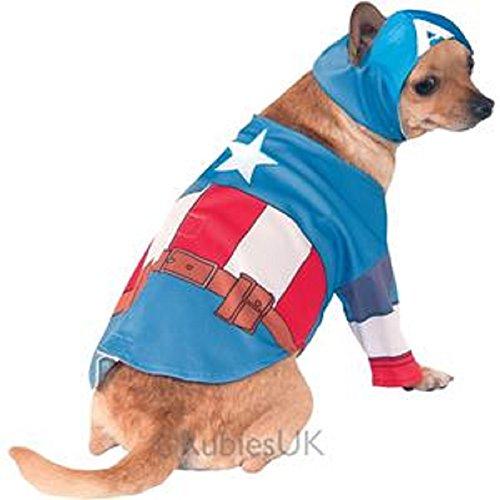 Captain America Hunde Kostüm - XL (Captain America Kostüme Ideen)