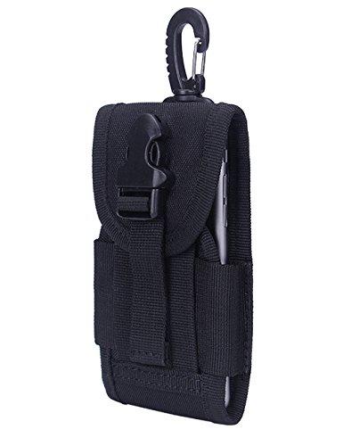 CUKKE Multipurpose Taktische Tasche Gürtel Taille Pack Tasche Military Taille Fanny Pack Telefon Tasche Gadget Geld Tasche Khaki Schwarz