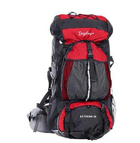 zaino trekking borse alpinismo esterno 60L zaino da viaggio escursionismo Lesbico sacchetto di grande capacità Zaini da escursionismo ( Colore : Royal Blue , dimensioni : 60l ) Rosso