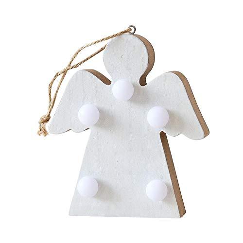Mirabellini Holz LED Nachtlicht Stern Form Romantische Lampe Batteriebetriebene Weihnachts Anhänger Dekorationen