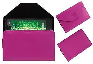 Acm Premium Pouch Case For Lava Iris Fuel 20 Flip Flap Cover Holder Pink