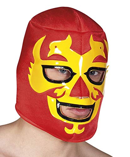 Boland 04220 Wrestling Maske Hawk Warrior, rot