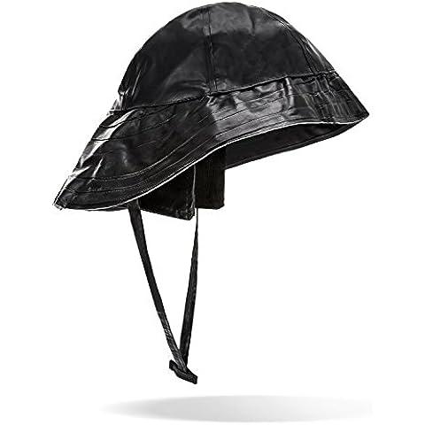 Lluvia sombrero sombrero de pescador con extra ala ancha., negro, extra-large