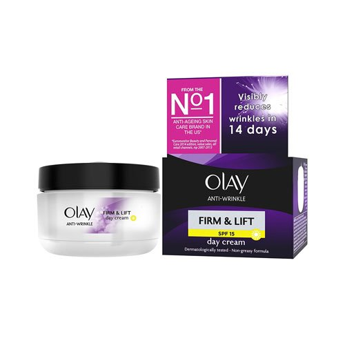 Olay Anti-Wrinkle Firm and Lift  SPF 15 Anti-Ageing Day Cream Moisturiser, 50 ml