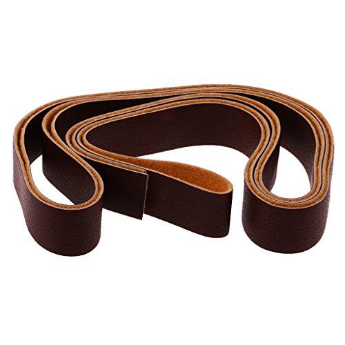 Baoblaze 10 Meter Flach Lederriemen Lederschnüre PU Lederband 2cm breite Schnur - Hellen Kaffee, one Size