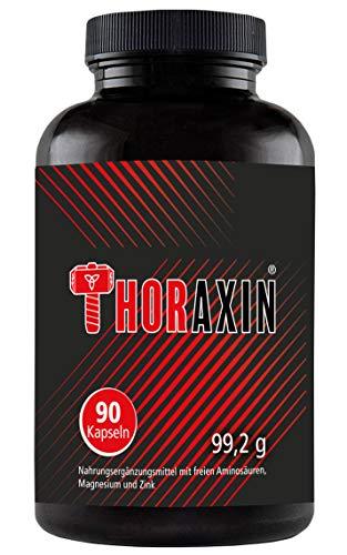 THORAXIN Muskelaufbau | BCAA + L-Arginin hochdosiert | Aminosäuren Komplex | 90 Kapseln